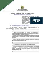 Decreto Nº 6.303, De 12 de Dezembro de 2007