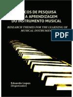 tópicos de pesquisa para a aprendizagem do instrumento musical