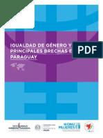 Igualdad de Genero y Principales Brechas en Paraguay