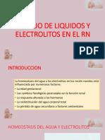 Manejo de Liquidos y Electrolitos en El Rn