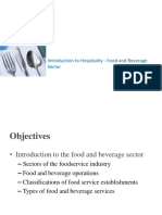 Intro to Food and Bev