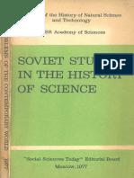 Soviet Studies in the History of Scinece (1977)