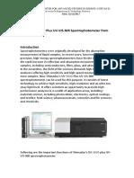Report UV-3600 Plus UV-VIS-NIR Spectrophotometer From Shimadzu