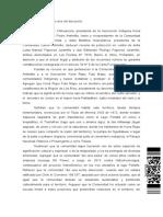 Causa Nº 3492018 (Proteccion). Resolución Nº 29 de Corte de Apelaciones de Valdivia, De 2 de Abril de 2018