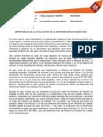 Importancia de La Evaluacion de La Información Documentada