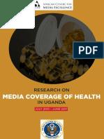 Media Coverage of Health in Uganda, July 2015-June 2017