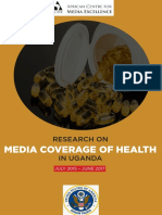 Media Coverage of Health in Uganda, July 2015-June 2017