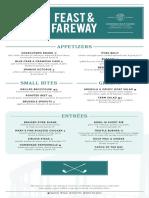 Feast and Fareway Menus