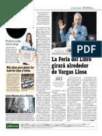 La Feria Del Libro Girará Alrededor de Vargas Llosa