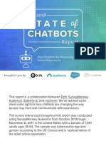 2018 State of Chatbots Report