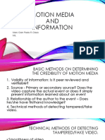 Motion and Information Media