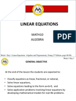 L1 Linear Equations