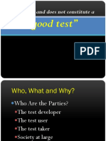 What is a Good Test