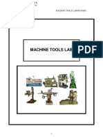 Machine Tools Lab Manual