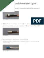 Tipos de Conectores de Fibra Óptica