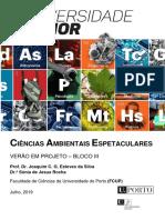 Ciências Ambientais Espetaculares BLOCO III - 2019