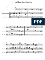 Super Mario Bros Sax Trio - Score and Parts
