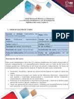 Syllabus Del Curso - Course Syllabus Inglés 0