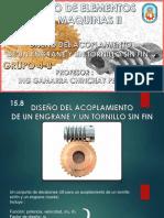 Tema 4 - Grupo 4b - 15-8 Diseño Del Acoplamiento de Un Engrane y Un Tornillo Sin Fin