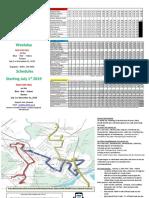 UCAT-Kingston Route Info as of July 1, 2019
