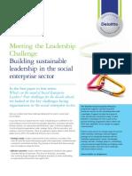 Deloitte Uk Abouti Social Leadership Challenge