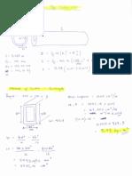 Inertia Moment of Material Trust Frame