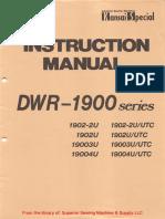 Kansai DWR-1900 Series Instruction Manual