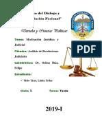 Motivación Jurídica y Judicial