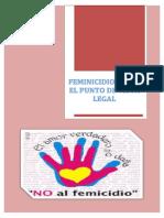 Feminicidio Desde El Punto de Vista Legal