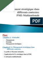 Management Stratégique Dans Différents Contextes