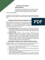 Creación de Documentos