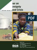 Primer on Food Crisis