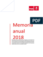 Memoria financiera PSOE