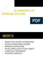 Merits and Demerits of Problem Solving