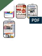 Ejemplos de     Anuncio de Publicidad + Anuncio de Publicidad + Noticia + Crónica +  Un Mito