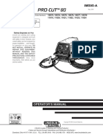 IM595 Manual Operador Lincoln Pro-Cut 800 - Codigo 11019
