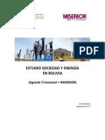 GTCCJ Estudio Sociedad y Energía en Bolivia Agenda Trinacional y Misereor