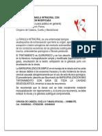 MANEJO DE LA RÁNULA INTRAORAL CON MARSUPIALIZACION MODIFICADA.