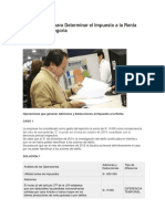 Caso Practico Para Determinar El Impuesto a La Renta de Tercera Categoria