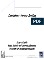Consistent Vector Scaling