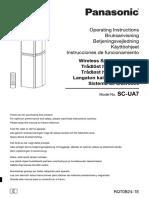 Panasonic SC UA7GS K Wireless Speaker User Manual