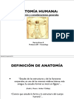 Anatomía Humana - Introducción y Consideraciones Generales
