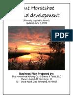 Updated Site Plan Application for Blue Horseshoe Island Development