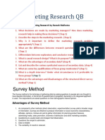Marketing Research QB 2015