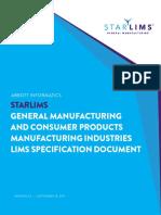 General Manufacturing Lims Spec Document
