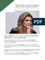 26-06-2019 Claudia Pavlovich la gobernadora a la que los ciudadanos le confiarían a sus hijos encuesta-El Heraldo