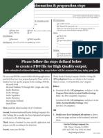 PDF Setting Checklist