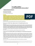 La Democracia Como Política Pública