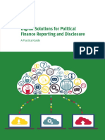 Digital Solutions for Political Finance Reporting and Disclosure-A Practical Guide (IDEA)