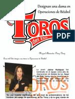 Miguel Alexander Pérez Pérez - Toros del Este designa una dama en Operaciones de Béisbol